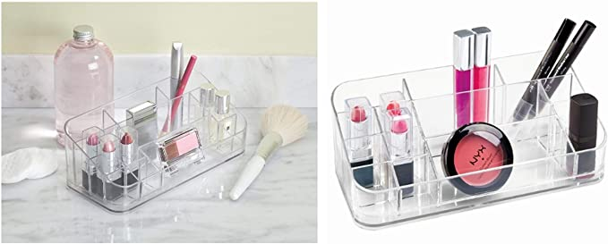 InterDesign Clarity Cosmetic Organizer for Vanity Cabinet to Hold Makeup, Beauty Products, Lipstick