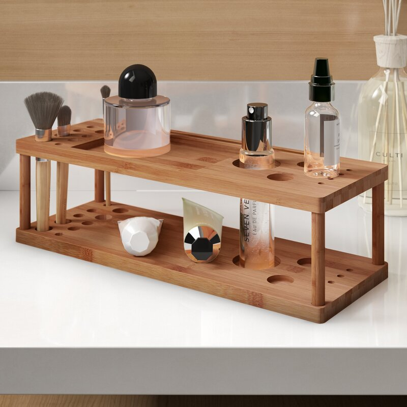Camryn Bamboo Makeup Station